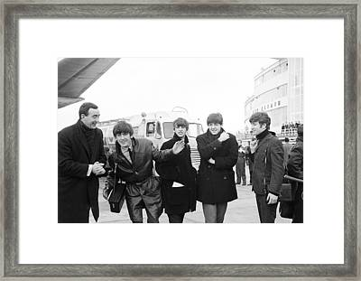 The Beatles In Dublin Framed Print by Irish Photo Archive