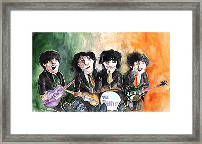 The Beatles In Ireland Framed Print by Miki De Goodaboom