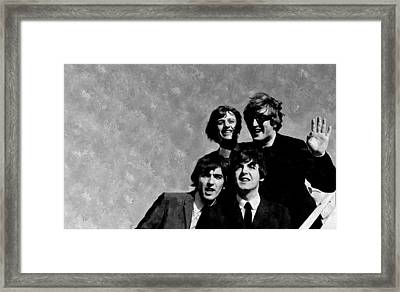 The Beatles In The Usa Framed Print by Florian Rodarte