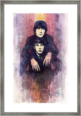 The Beatles John Lennon And Paul Mccartney Framed Print