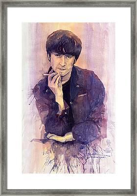 The Beatles John Lennon Framed Print by Yuriy  Shevchuk