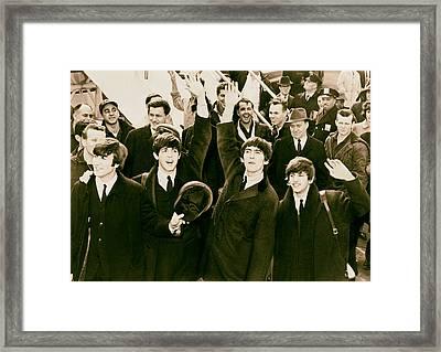 The Beatles Land In America - 1964 Framed Print