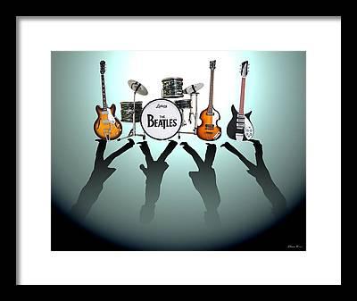 Paul Mccartney Beatles Framed Prints