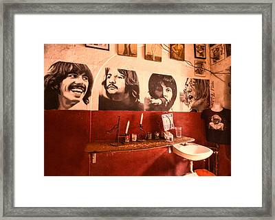 The Beatles Framed Print by Lindley Johnson