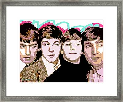 The Beatles Love Framed Print by David Lloyd Glover
