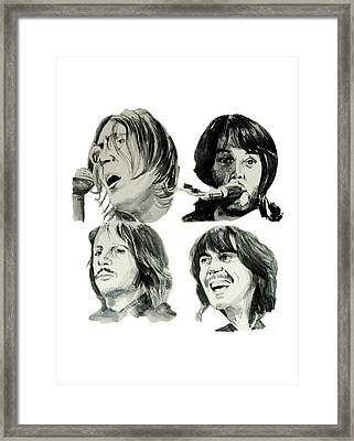 The Beatles Framed Print by Bekim Art