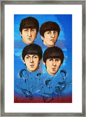 The Beatles Montage One Framed Print