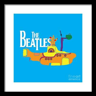Beatles Rock N Roll Framed Prints