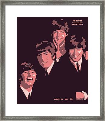 The Beatles On The Cover Of Life Magazine 1964 Framed Print