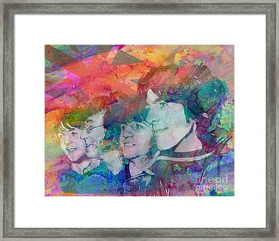 The Beatles Original Painting Print Framed Print by Ryan Rock Artist