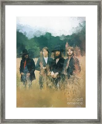 The Beatles Framed Print by Paulette B Wright