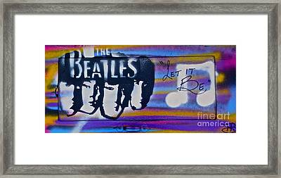 The Beatles Purple Framed Print by Tony B Conscious