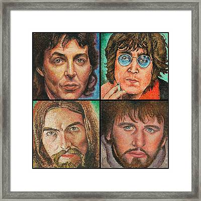 The Beatles Quad Framed Print