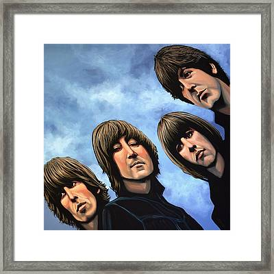 The Beatles Rubber Soul Framed Print by Paul Meijering