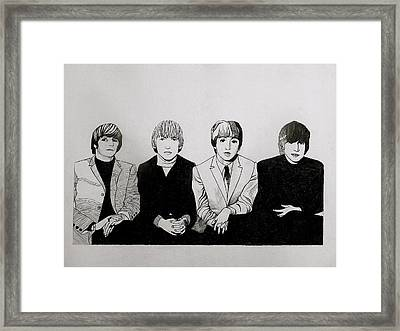 The Beatles Study  Framed Print by Maria Espach
