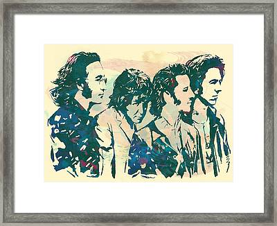 The Beatles - Stylised Pop Art Drawing Potrait Poser Framed Print by Kim Wang