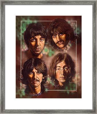 The Beatles Framed Print by Tim  Scoggins