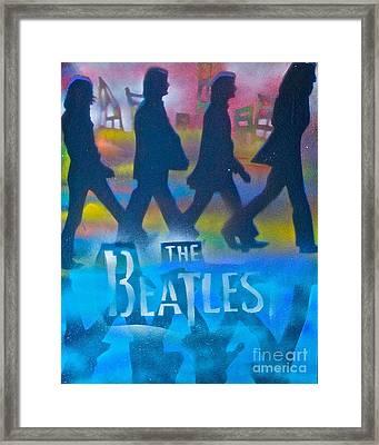 The Beatles Walk Framed Print