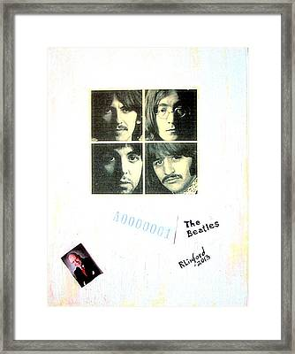 The Beatles White Album A0000001 Framed Print by Richard W Linford