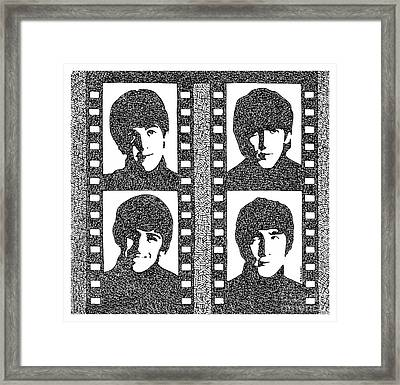 The Beatles Yeah Yeah Yeah Framed Print by Pablo Franchi