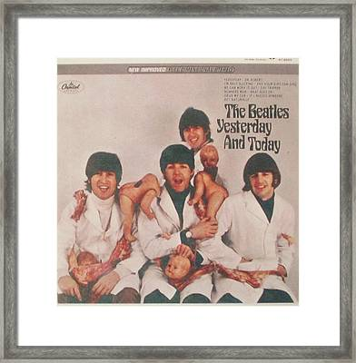 The Beatles Yesterday And Today Butcher Album Cover Framed Print by Donna Wilson