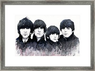 The Beatles Framed Print by Yuriy  Shevchuk