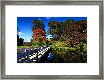 The Beautiful Autumn In Ithaca New York Framed Print