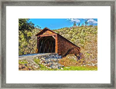 The Beautiful Bridgeport Covered Bridge Framed Print by John Alves