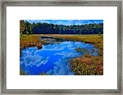 The Beautiful Cary Lake - Old Forge New York Framed Print