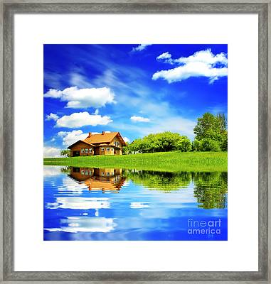 The Beautiful House Framed Print by Boon Mee