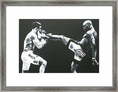 The Beautiful Kick Framed Print