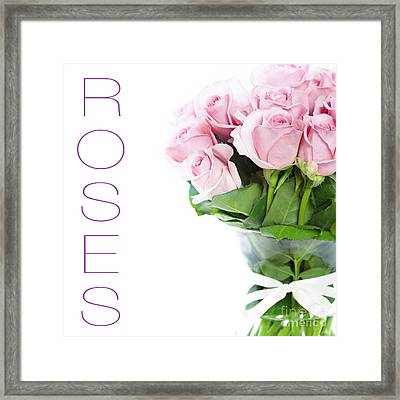 The Beautiful Pink Roses Framed Print by Boon Mee