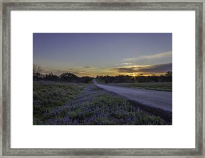 The Beautiful Road At Sunrise Framed Print by Jeffrey W Spencer