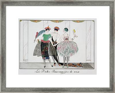 The Beautiful Savages Framed Print by Georges Barbier