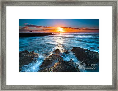 The Beautiful Sunset Beach Framed Print by Boon Mee