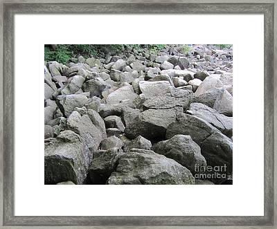 The Beautiful Tones Of The Ringing Rocks Framed Print