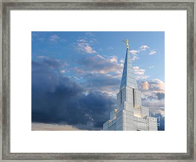 The Beautiful Vancouver Lds Temple. Framed Print by Laurent Lucuix