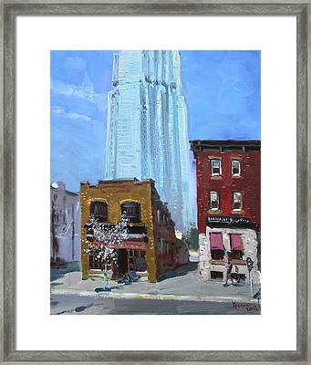 The Beauty N' The Background In London Canada Framed Print by Ylli Haruni