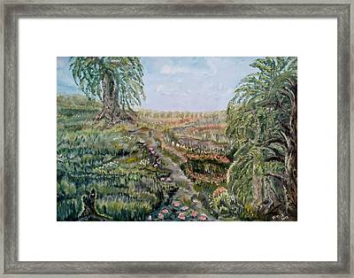 The Beauty Of A Marsh Framed Print