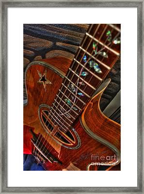 The Beauty Of A Six String Digital Guitar Art By Steven Langston Framed Print by Steven Lebron Langston
