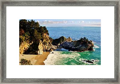The Beauty Of Big Sur Framed Print by Benjamin Yeager