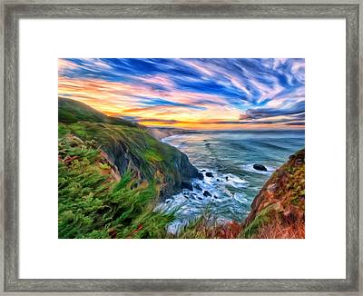 The Beauty Of Big Sur Framed Print by Michael Pickett