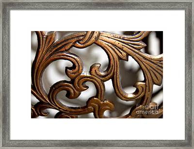 The Beauty Of Brass Scrolls 1 Framed Print