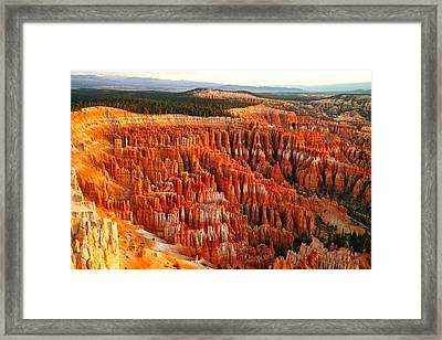 The Beauty Of Bryce Canyon In The Morning Framed Print