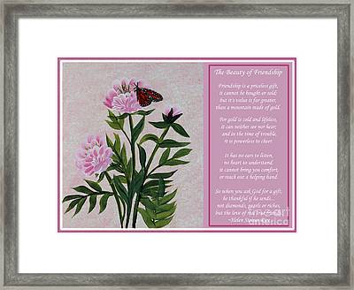 The Beauty Of Friendship Framed Print
