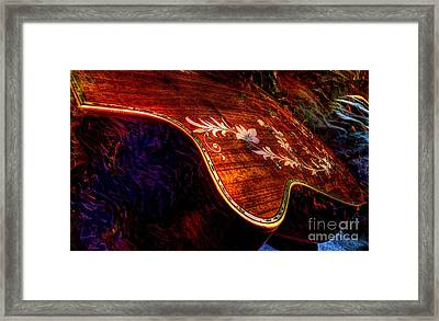 The Beauty Of Inlay Digital Guitar Art By Steven Langston  Framed Print by Steven Lebron Langston