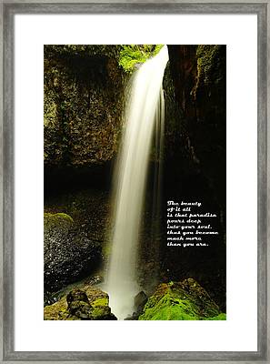 The Beauty Of It All Framed Print by Jeff Swan