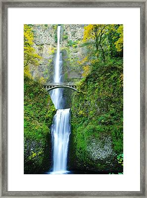 The Beauty Of Multnomah Falls Framed Print