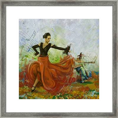 The Beauty Of Music And Dance Framed Print by Corporate Art Task Force