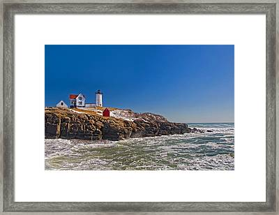 The Beauty Of Nubble Framed Print by Joann Vitali